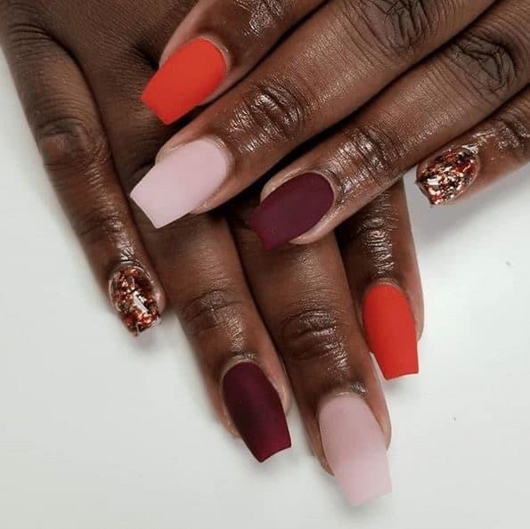 fall nails for dark skin