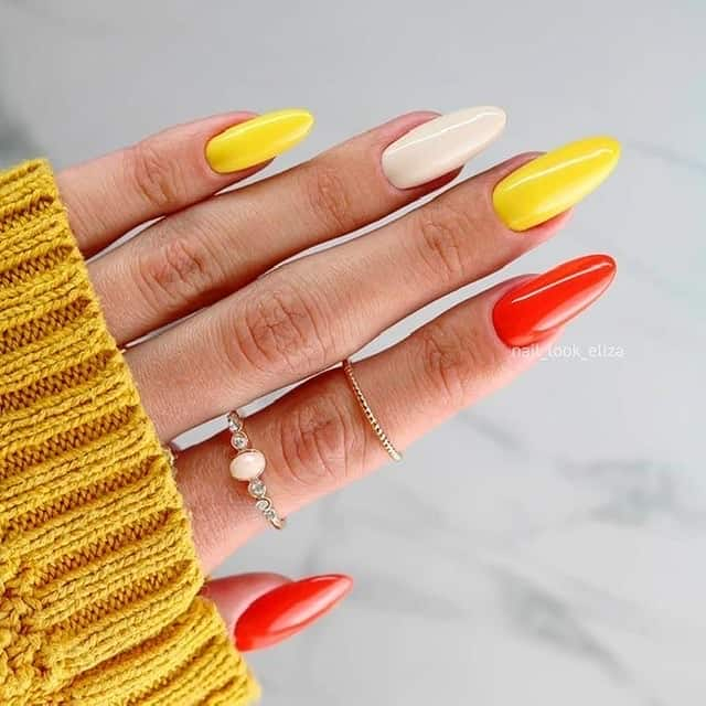 different nail color