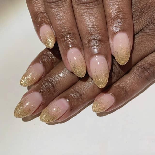 Glitter thanksgiving nail art design