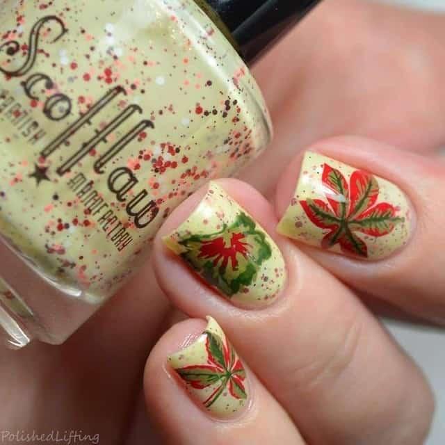 Crazy Cute Ideas for Thanksgiving Nails that are legit cute