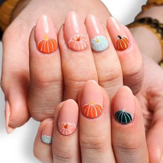 cute thanksgiving nails