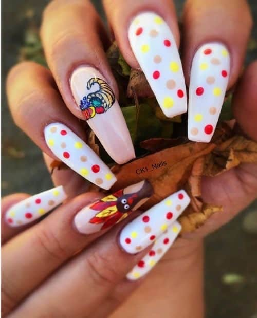 white thanksgiving nails