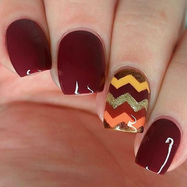 easy thanksgiving nail idea
