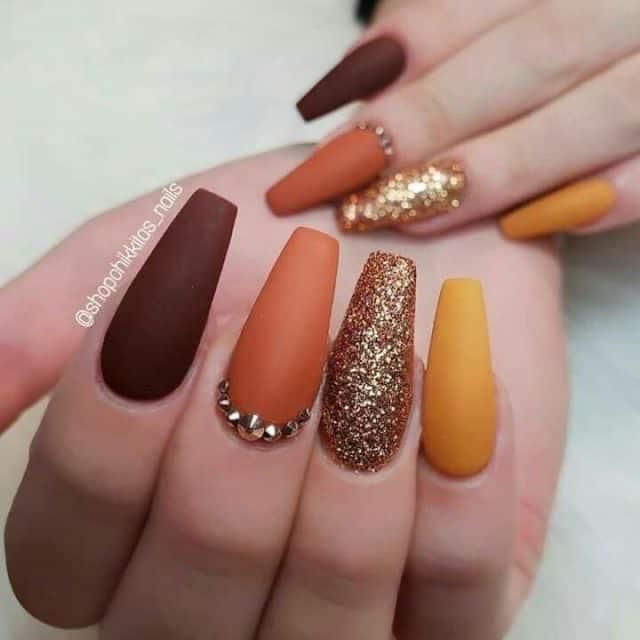 thanksgiving nail art idea