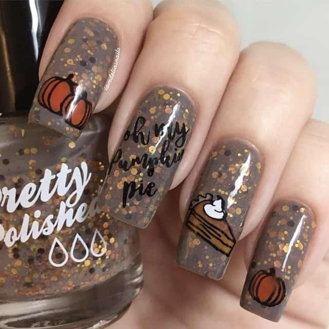 gel thanksgiving nails
