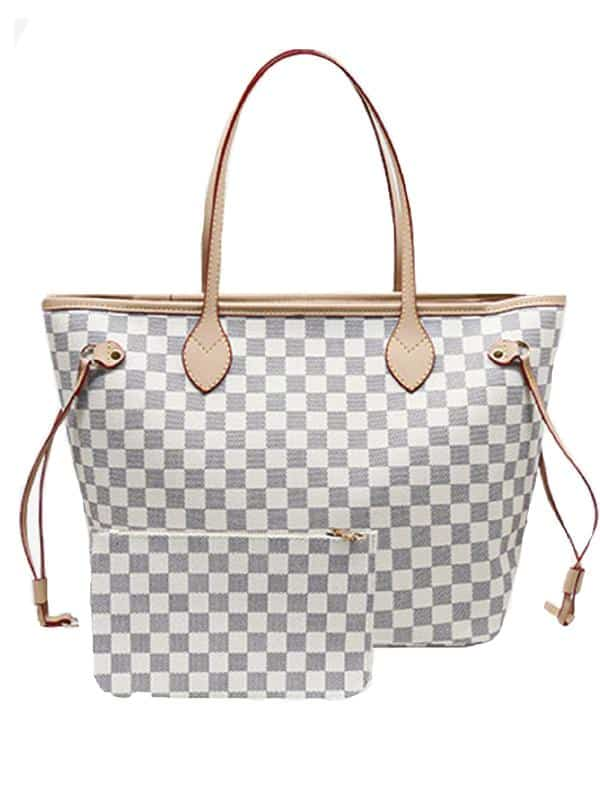 white checkered lv dupes