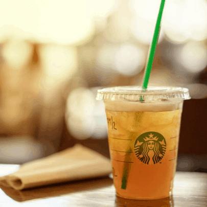 healthy Starbucks drinks - shaken Tazo lemonade