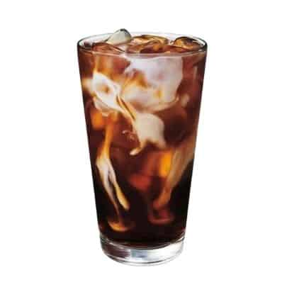 healthy Starbucks drinks - honey almond milk cold brew