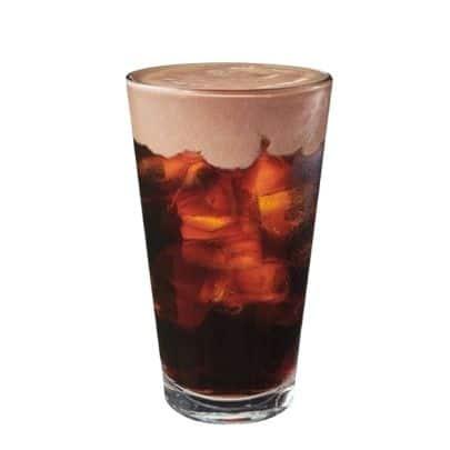 healthy Starbucks drinks - dark cocoa almondmilk foam