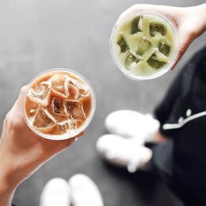 a picture of healthy starbucks drinks