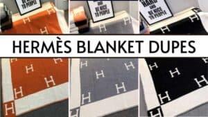 featured image Hermes blanket dupes