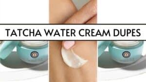 tatcha water cream dupes